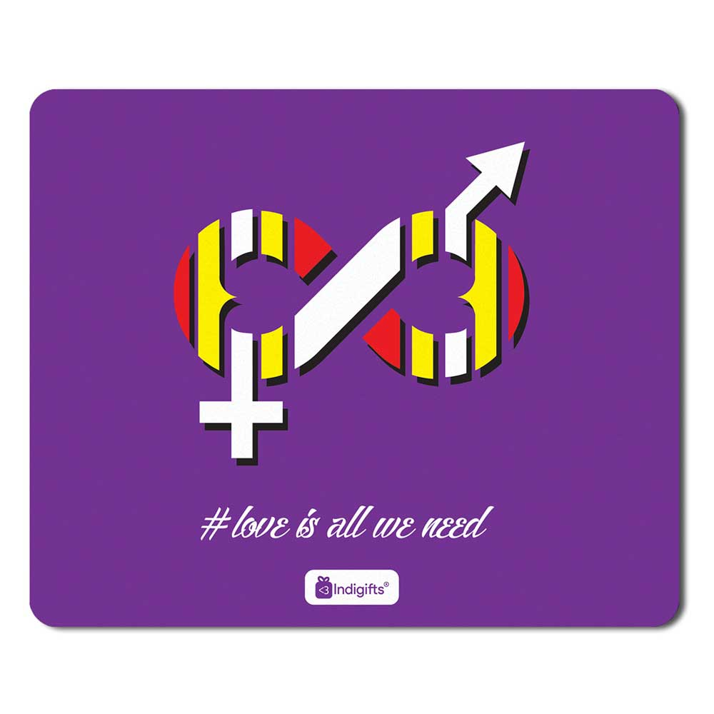 Indigifts Freedom Of Love Symbol Purple Mouse Pad