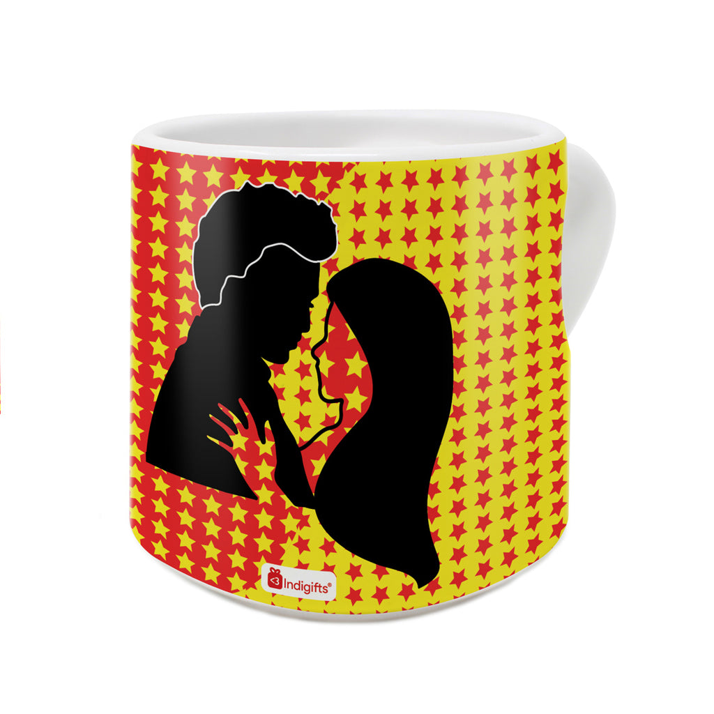 hes my other half shes my better half quote multicolor heart shape mug