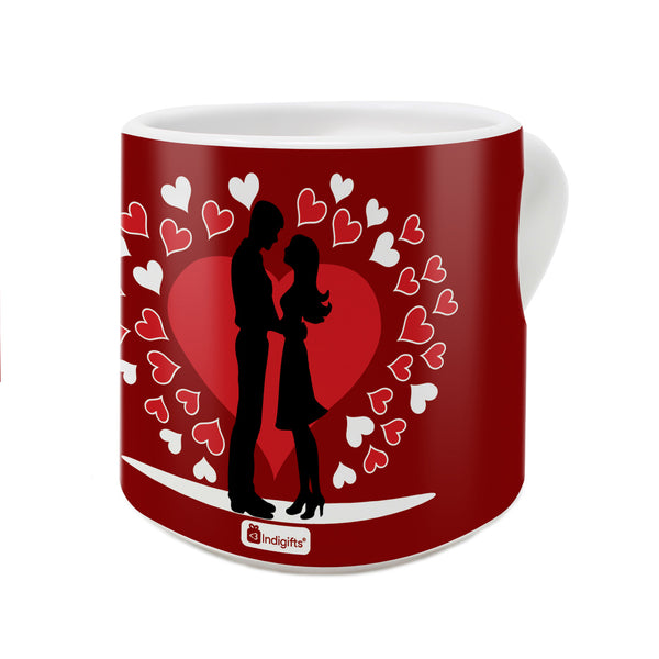 You Are The Best Part of My Everyday Quote A Couple In Love Holding Each Other Red Heart Handle Mug