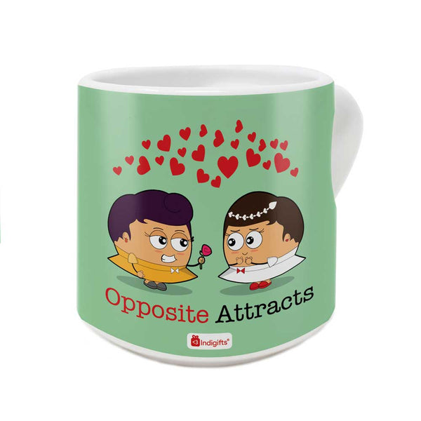 Valentine Proposal By Girls In Love Green Coffee Mug