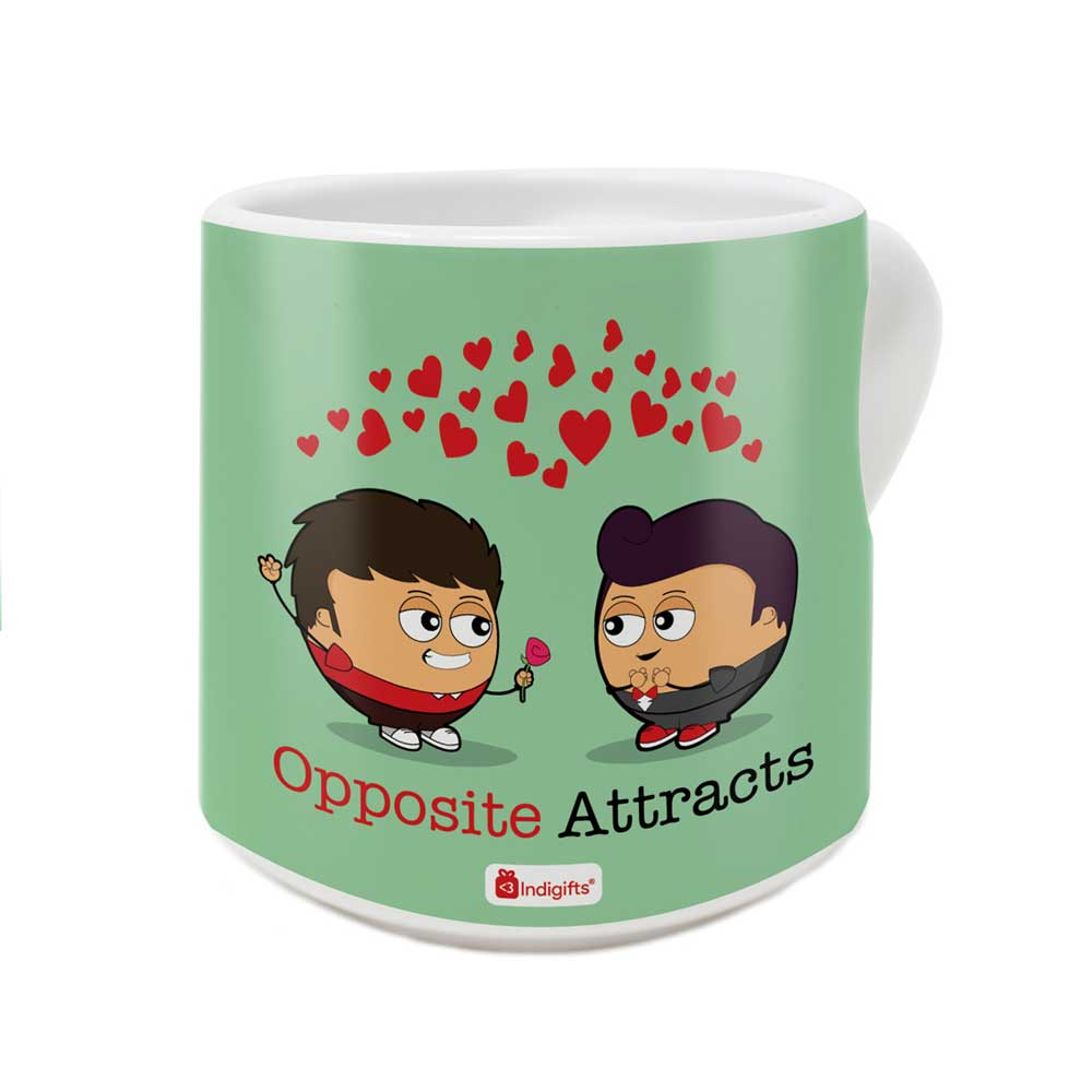 Valentine Proposal By Boys In Love Green Coffee Mug