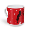 Indigifts Romantic Couple Sitting Together Red Heart Shape Coffee Mug