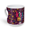Indigifts Scattered Randomize Pattern Of Love Symbols Purple Heart Shape Coffee Mug