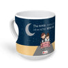 Indigifts Newly Weds Happy Married Couple On a Ride Blue Heart Shape Coffee Mug