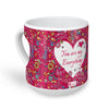 Indigifts Love Doodle with Flowers Pink Heart Shape Coffee Mug