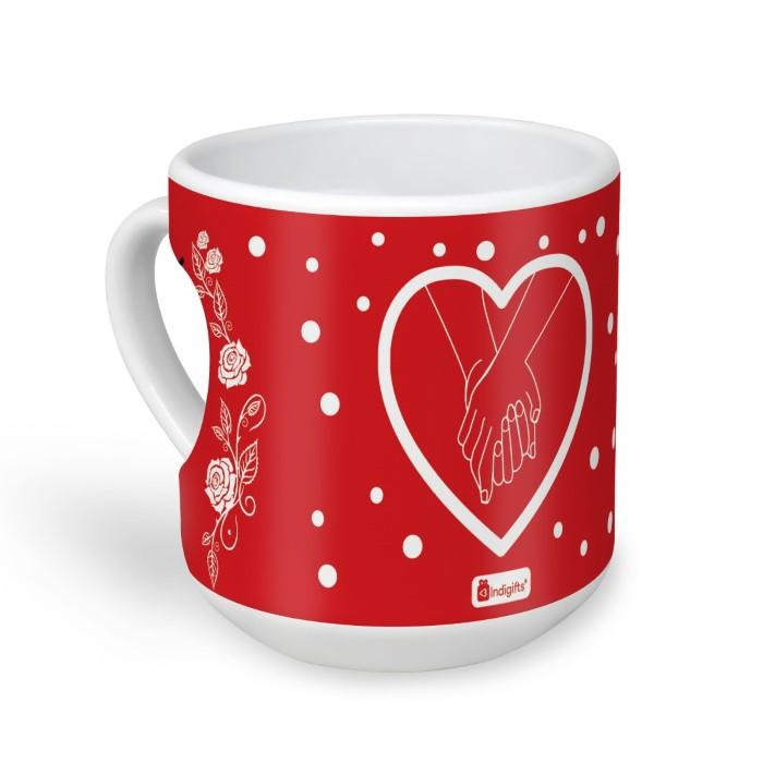 indigifts We Are So Good Together Quote Hands Holding Each Other Firmly in a Mood of Romance Red Heart Mug