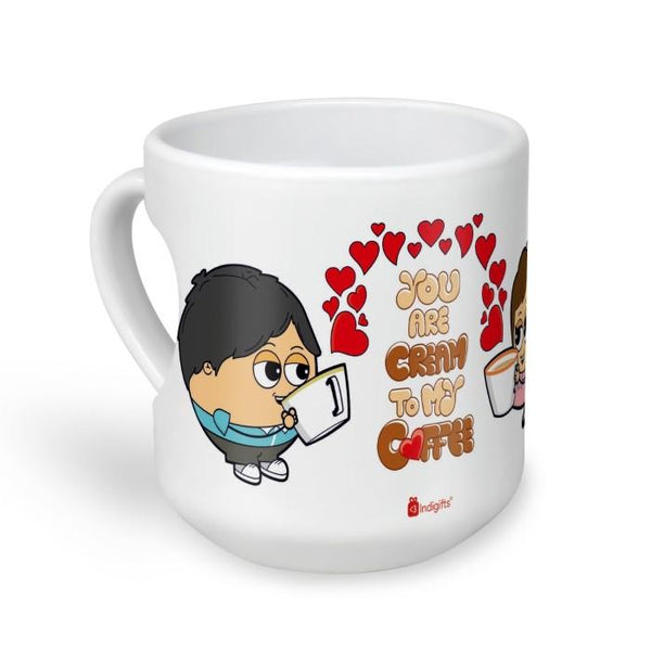 Cream to my Coffee White Heart Shape Mug
