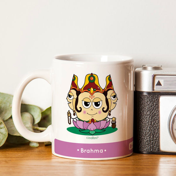 Diwali Gift Items Be like Brahma Printed Purple Coffee Mug 330 ml