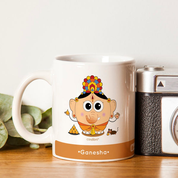 Diwali Gift For Family & Friends Be like Ganesha Printed Orange Coffee Mug 330 ml