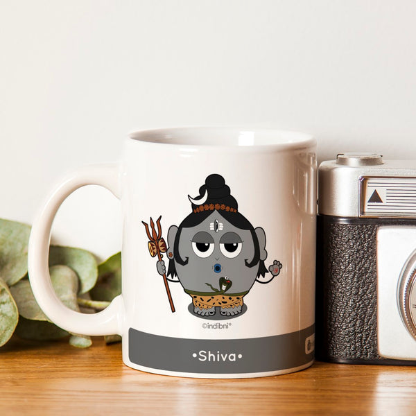 Diwali Gift Ideas Be like Shiva Printed Grey Coffee Mug 330 ml