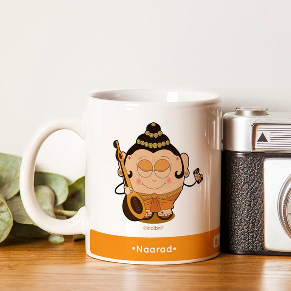 Diwali Gift Items Be like Naarad Printed Yellow Coffee Mug 330 ml