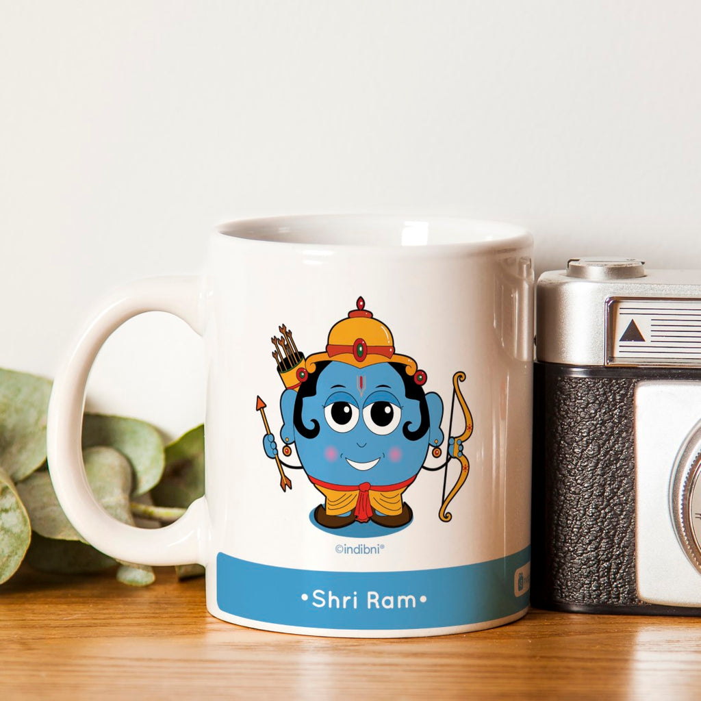 Indigifts Diwali Gift For Family & Friends Be like Lord Ram Printed Blue Coffee Mug