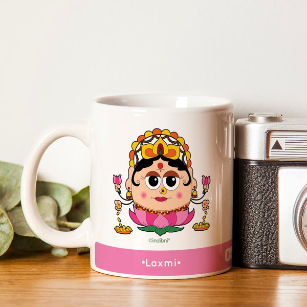 Diwali Gift Ideas Be like Laxmi Printed Pink Coffee Mug 330 ml