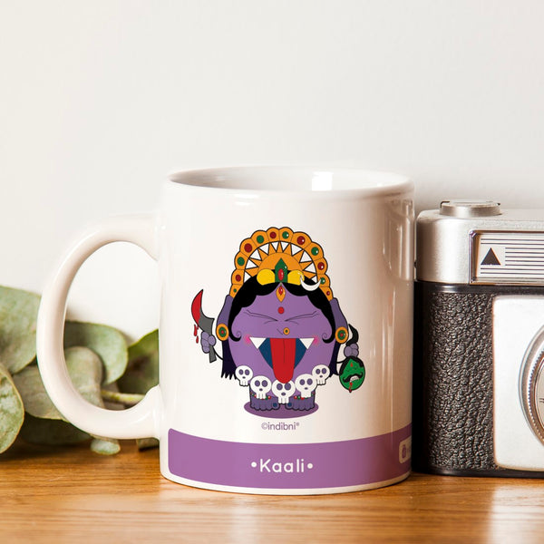 Diwali Gift For Family & Friends Be like Kaali Printed Purple Coffee Mug 330 ml