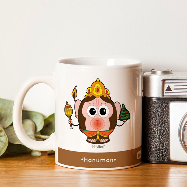 Diwali Gift Ideas Be like Hanuman Printed Brown Coffee Mug 330 ml