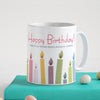 Indigifts Happy Birthday Printed Ceramic Coffee Mug for Birthday Gifts for Friends