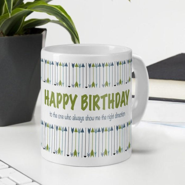 Happy Birthday to You Printed Ceramic Mug for Birthday Gifts