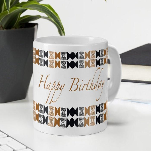 Happy Birthday to You Printed Ceramic Mug 330 ml for Birthday Gifts for Friends