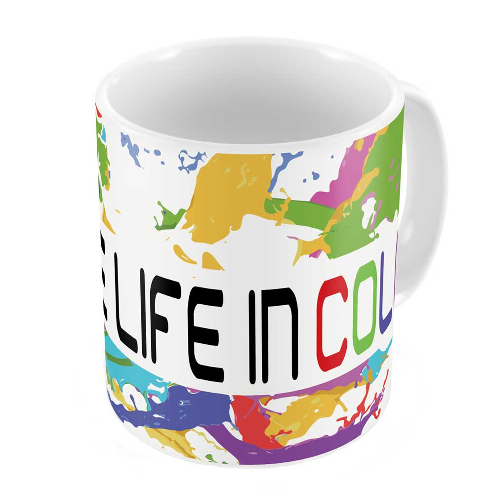 Indigifts Live Life In Colors Coffee Mug