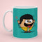 Indigifts Aqua Coffee Mug for Swaggy (Manmoji)