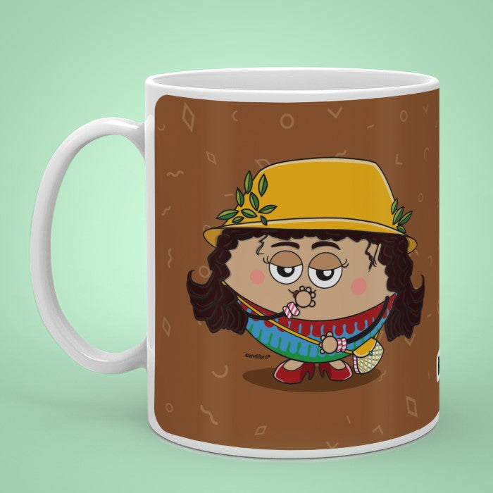 Indigifts Sundari - Giggle, curls and sassy little girl Brown Coffee Mug