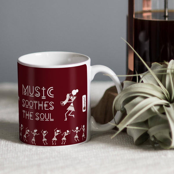 Indigifts Coffee Cup Gift for Music Artist Friend, Office Colleague Music Lovers