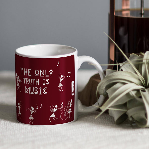 Coffee Mug for Music Lovers Digitally Printed  Coffee Cup - Gift for Music Artist Friend, Office Colleague, Designer Cup