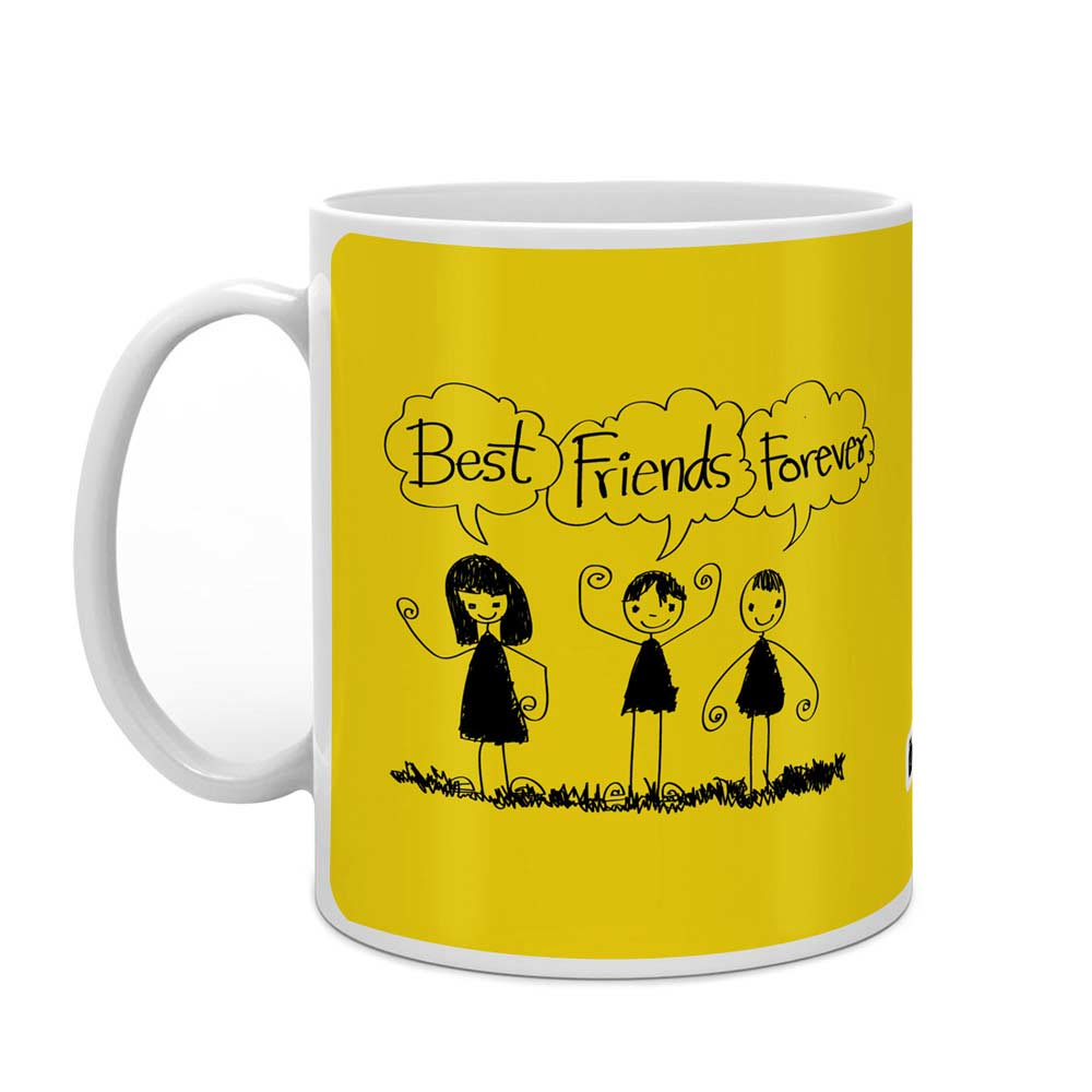 Best Friends Forever Yellow Coffee Mug