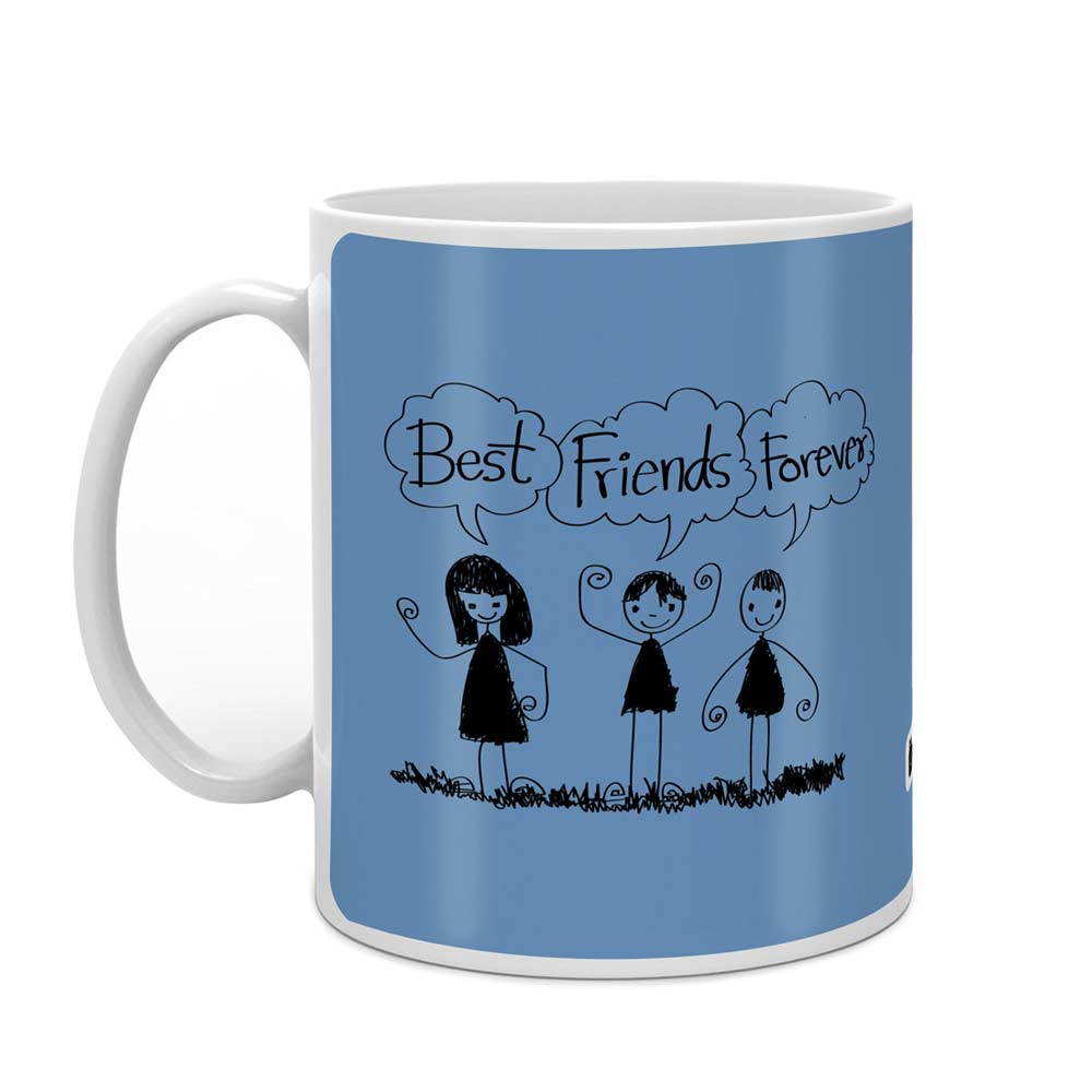 Best Friends Forever Light Blue Coffee Mug