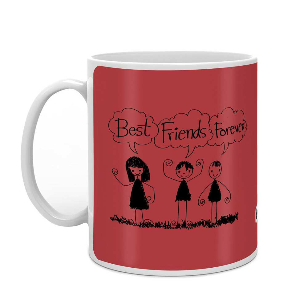 Best Friends Forever Red Coffee Mug