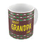 Indigifts Coolest Grandpa Ever Quote Seamless Moustache Retro Pattern Brown Coffee Mug