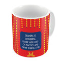 Indigifts Grandpa is Wonderful with Lots of Practice Quote Traditional Folk Art Print Red Coffee Mug