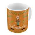 Indigifts Best Grandpa Ever Quote Comic Folk Style Orange Coffee Mug