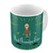 Indigifts Best Grandpa Ever Quote Comic Folk Style Green Coffee Mug