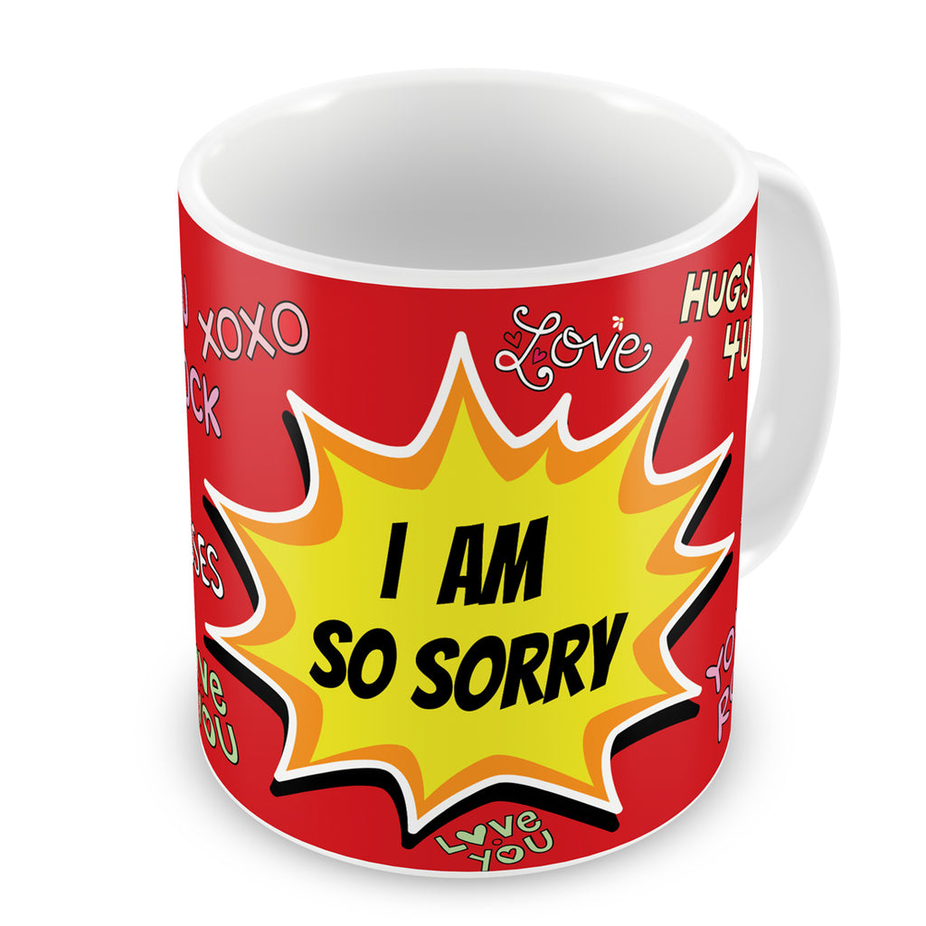 Indigifts Pop Art Blast of Apology Illustration Red Coffee Mug