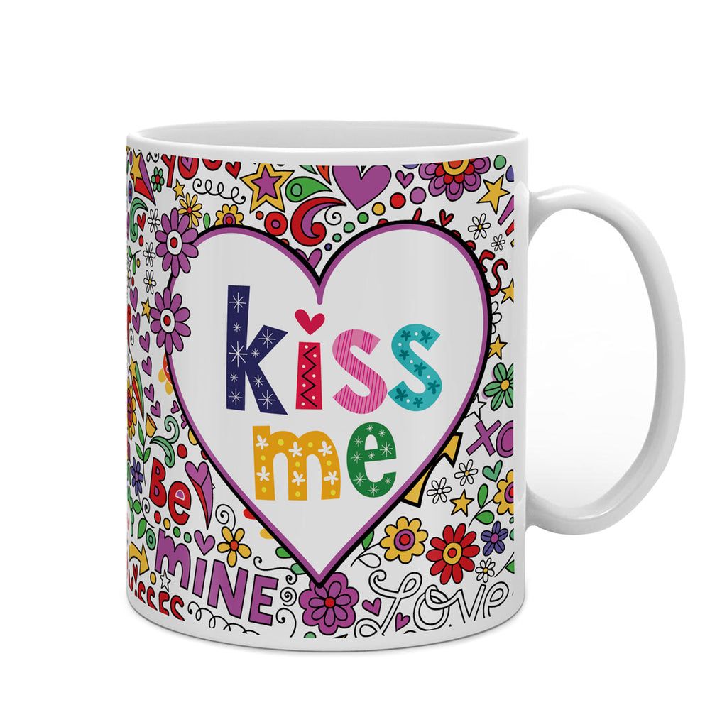 Indigifts Colourful Romantic Elements Multi Coffee Mug