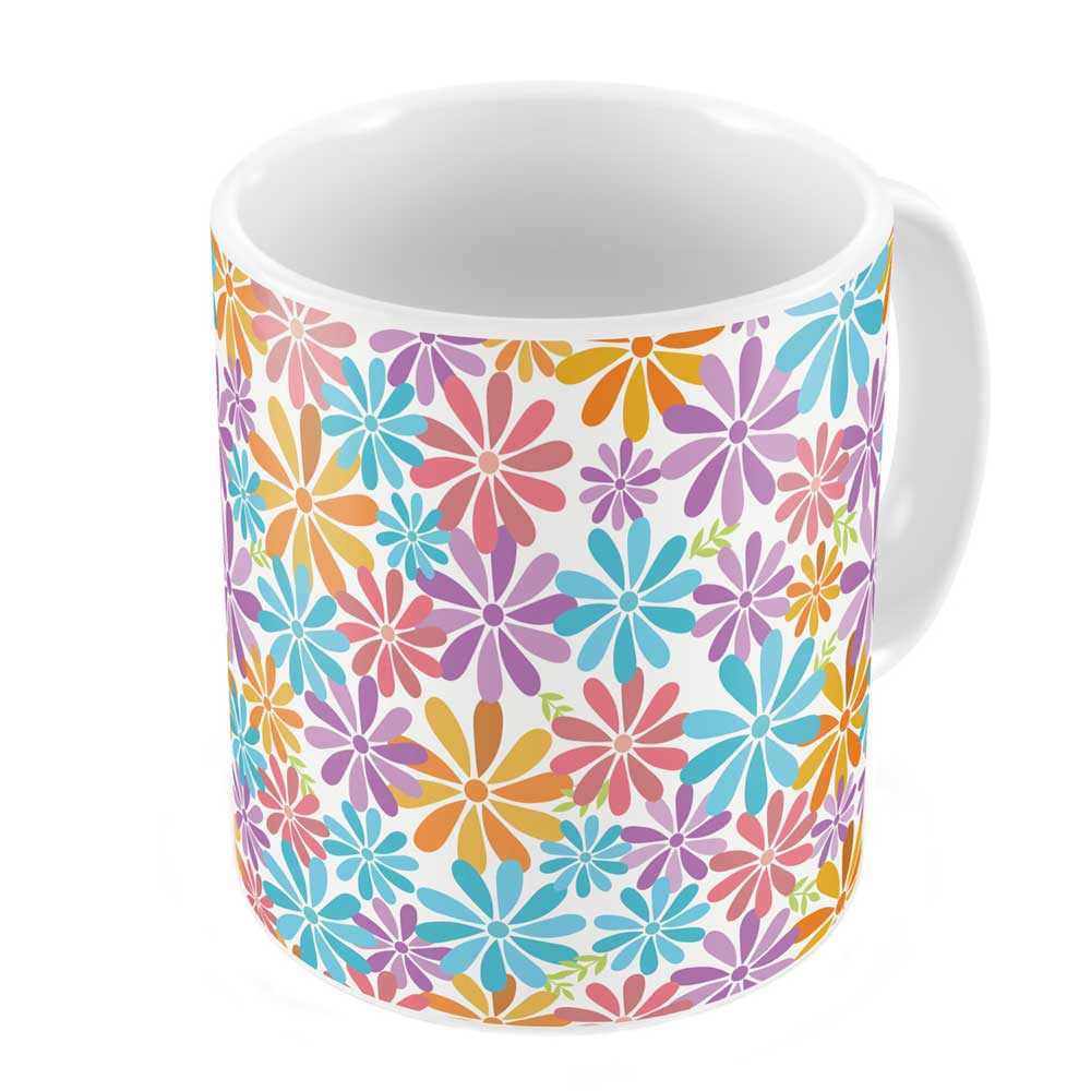 Indigifts Colourful Summer Flowers Pattern Coffee Mug