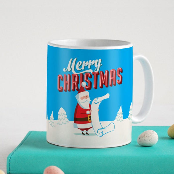Santa Reading His Wish List Coffee Mug