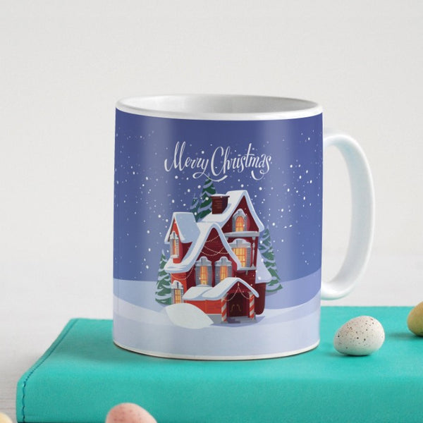 Decorated Fairy Tale House In Snowfall Coffee Mug