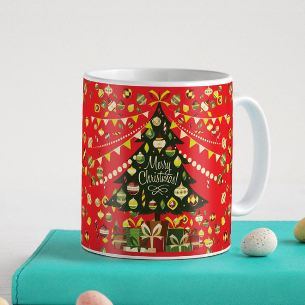 Decorated Xmas Tree with Ornaments Coffee Mug