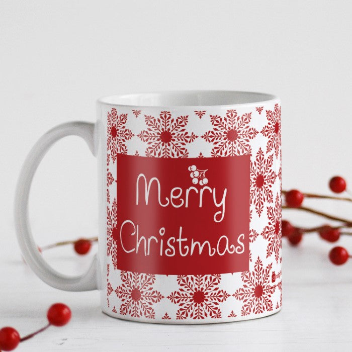 Indigifts Snowflakes In A Seamless Pattern Coffee Mug