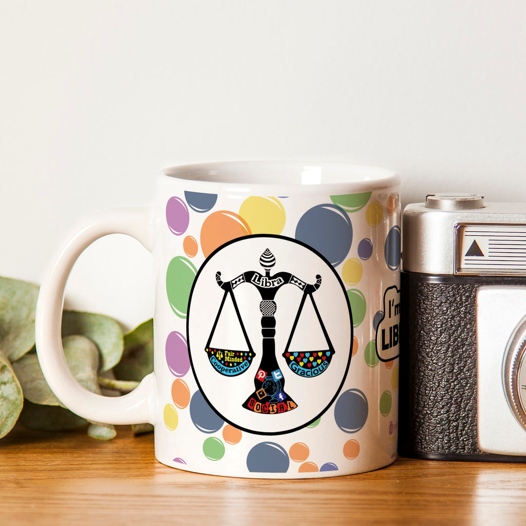 Libra Zodiac White Coffee Mug