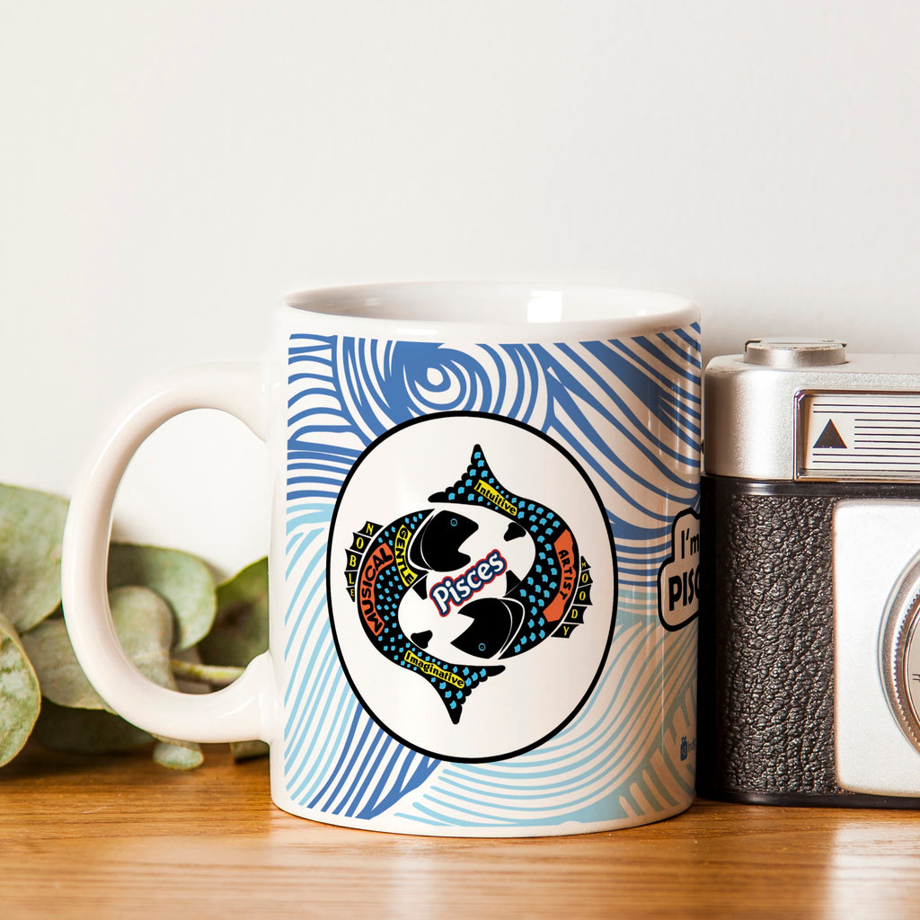 Pisces Zodiac Blue Coffee Mug