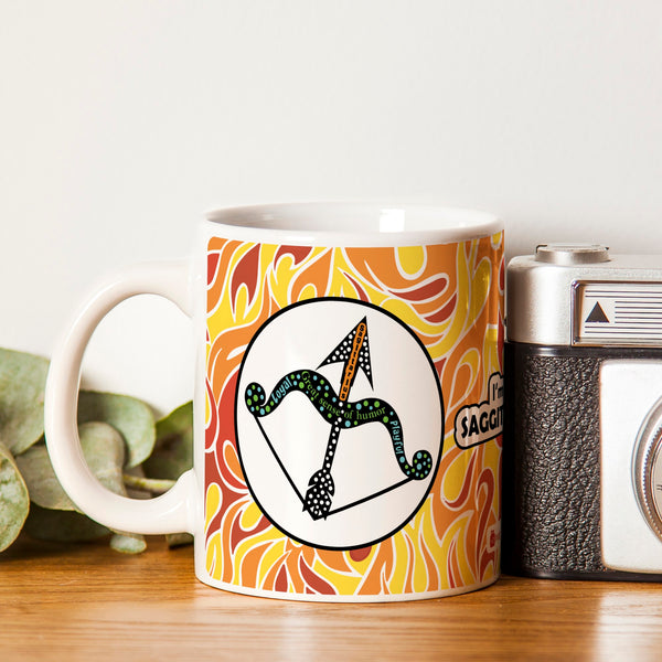 Sagittarius Zodiac Multicolor Coffee Mug