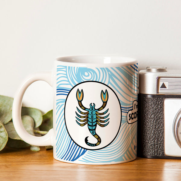 Scorpio Zodiac Blue Coffee Mug