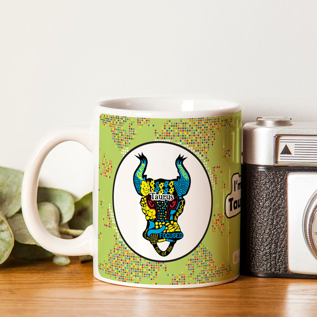 Taurus Zodiac Green Coffee Mug