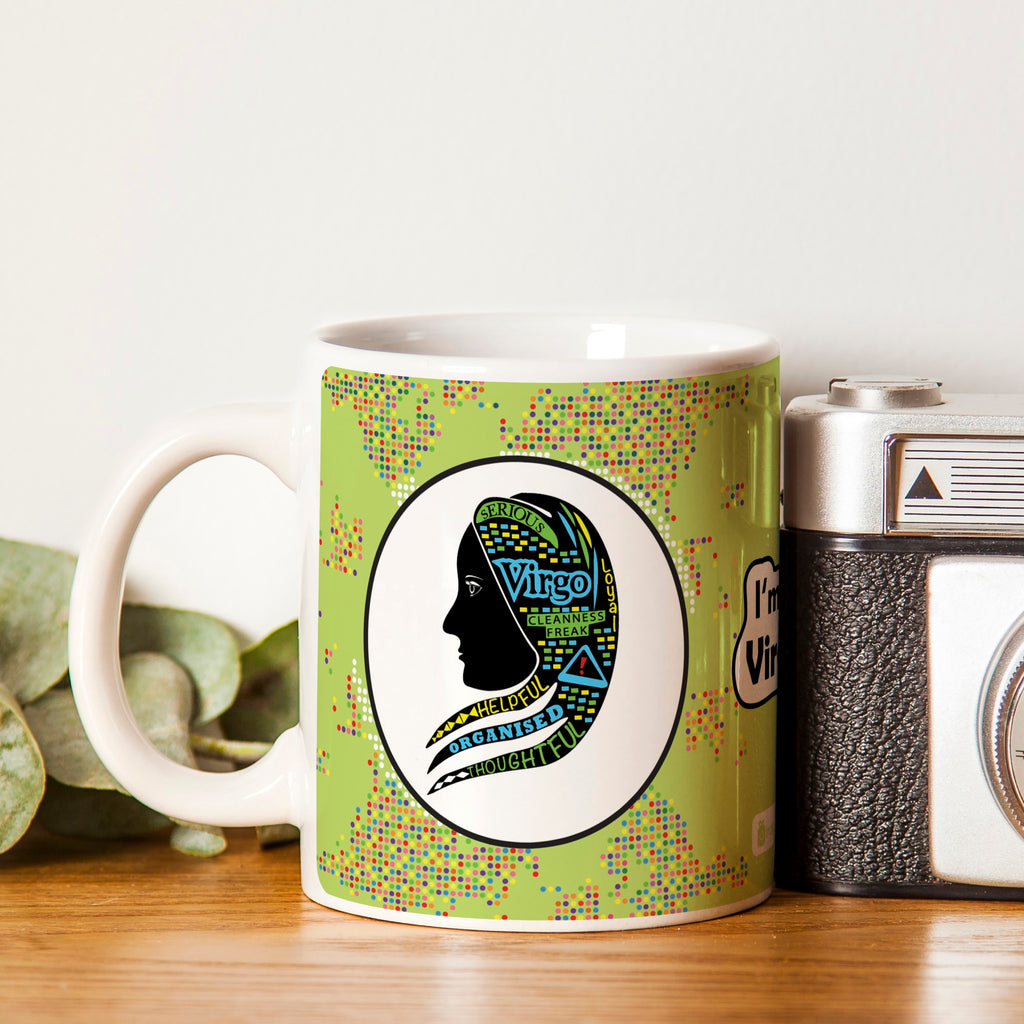 Virgo Zodiac Green Coffee Mug
