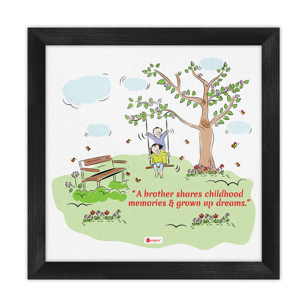 Brother & Sister on Swing Multi Poster Frame