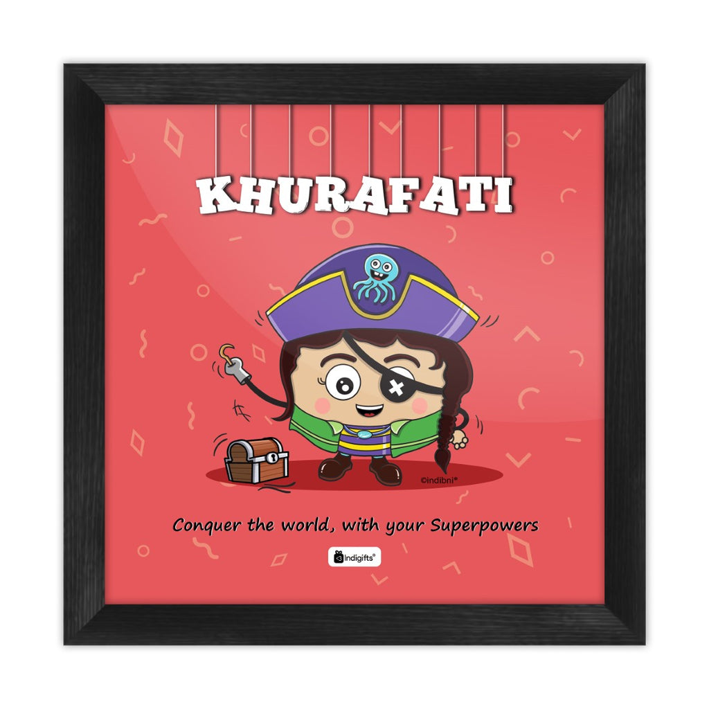 Khurafati - Conquer the world with your superpowers Red Poster Frame
