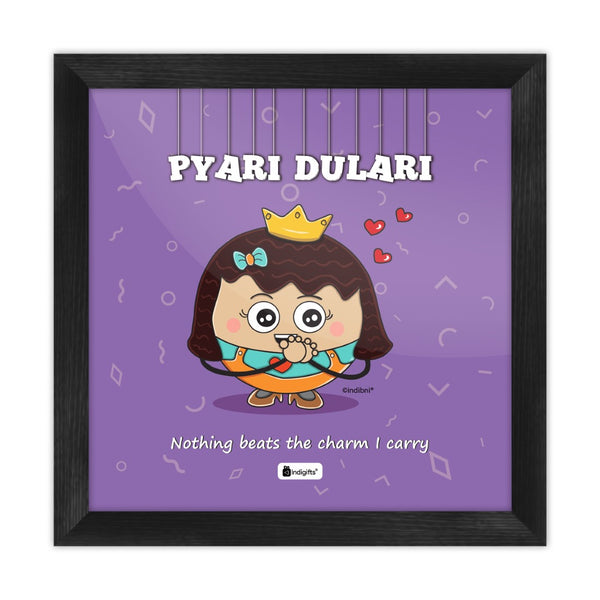 Pyari Dulari - Nothing beats the charm I carry Purple Poster Frame
